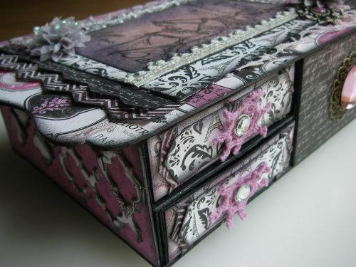 *paris* OOAK Handmade Vintage Memory/Trinket Box