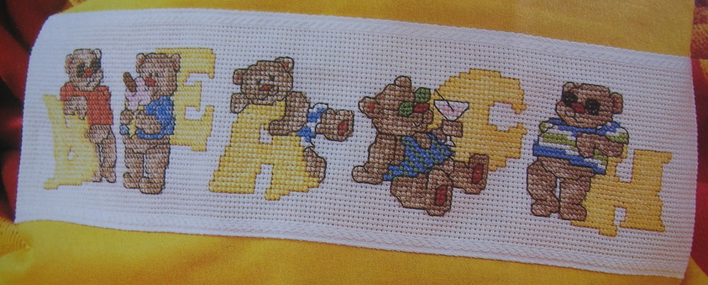Summer Bears ABC Alphabet ~ Cross Stitch Charts