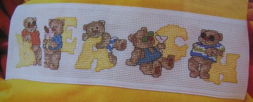 Summer Bears ABC Alphabet ~ Cross Stitch Charts