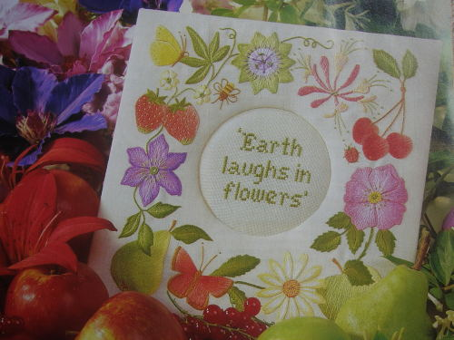 The Earth Laughs In Flowers ~ Hand Embroidery Pattern