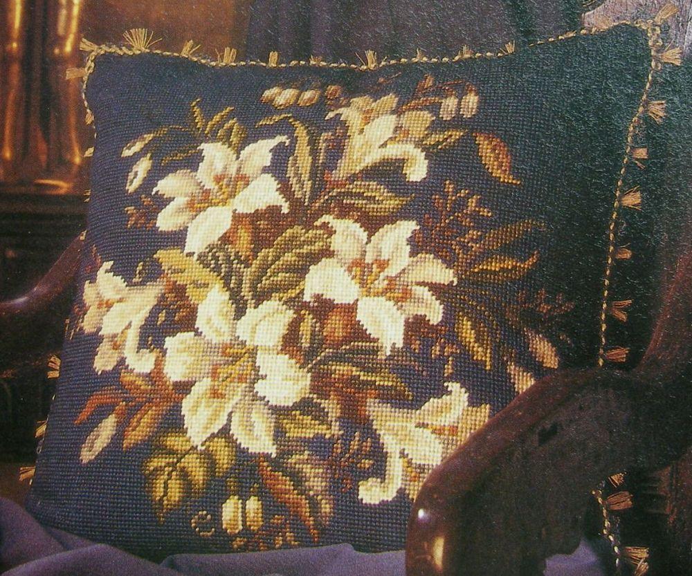 Lily Cushion ~ Needlepoint Pattern