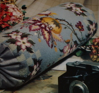 Floral Antique Bolster Cushion ~ Needlepoint OR Cross Stitch Chart