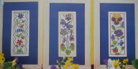 Three Summer Floral Panels ~ Cross Stitch Charts