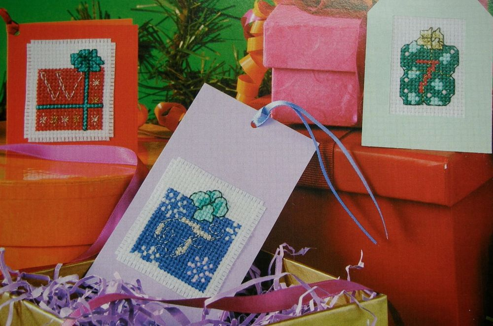 Christmas Gifts ABC Alphabet & 123 Numbers ~ Cross Stitch Charts