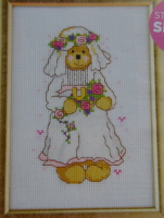 Busy Bear: Wedding Bride ~ Cross Stitch Chart