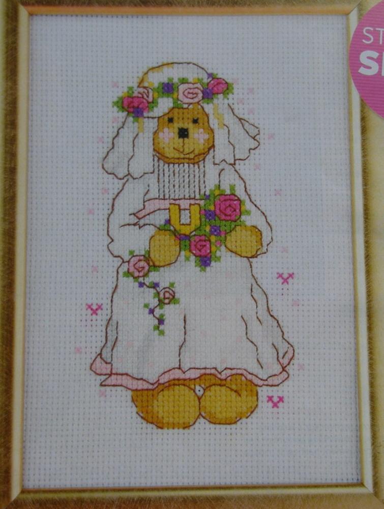Busy Bear: Wedding Bride ~ Cross Stitch Chart