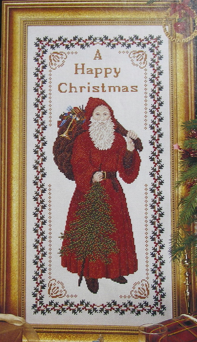 Victorian Father Christmas/Sant Claus ~ Cross Stitch Chart