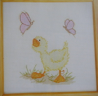 Designer Stitches: Souffle the Duck ~ Cross Stitch Chart
