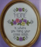 Home is Where You Hang Your Cross Stitch ~ Cross Stitch Chart