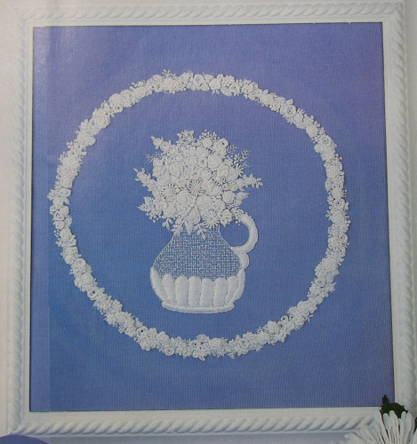 Wedgewood style cameo relief flowers hand embroidery patterns Wedgewood designs