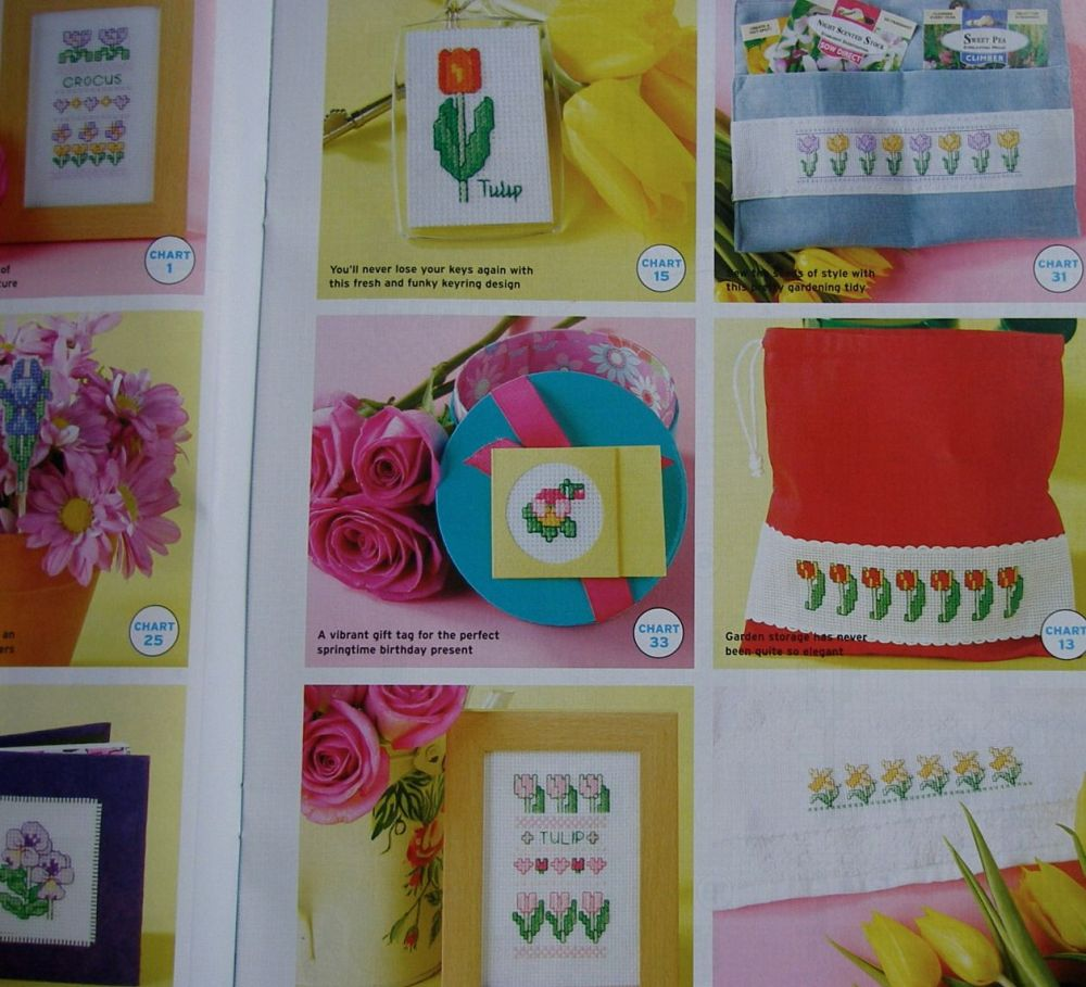 37 Spring Flower Motifs ~ Cross Stitch Chart