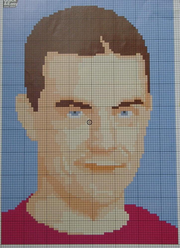 Robbie Williams: Pop Singer ~ Cross Stitch Chart