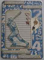 *take me to the ball game* OOAK Handmade Luxury Boxed Card