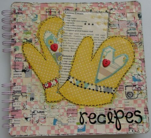 *lemon cream* OOAK Handmade Mixed Media Recipe Album
