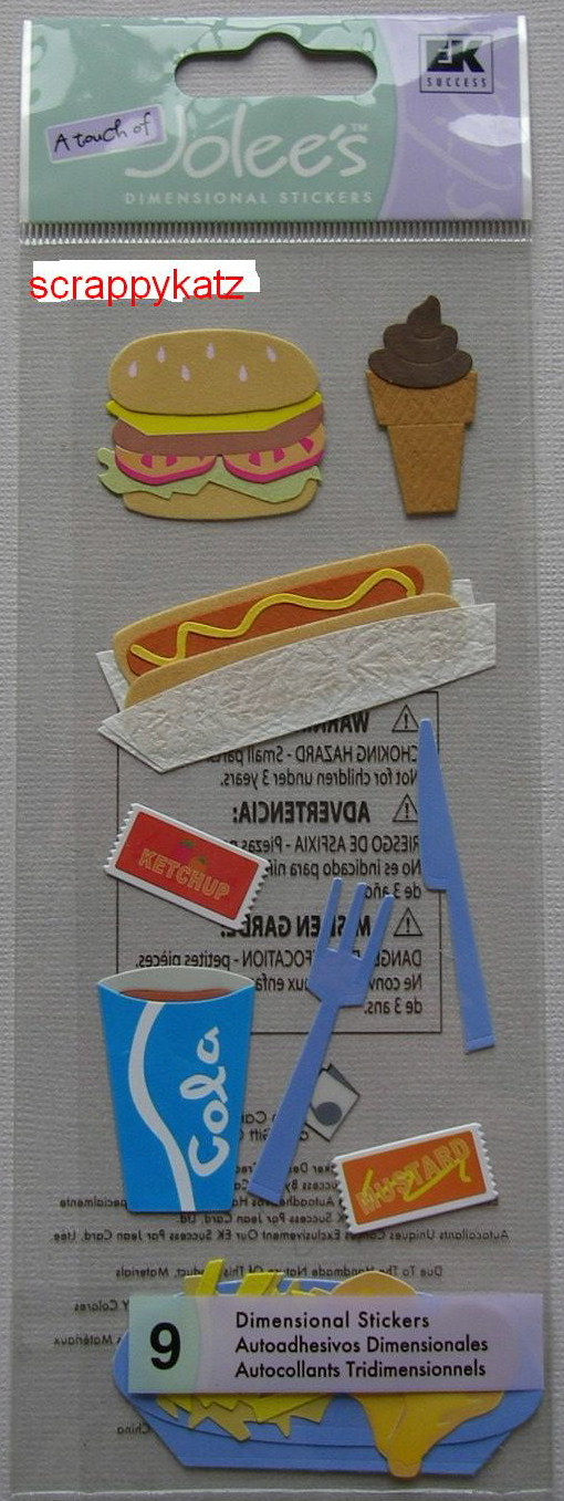 Jolee's Boutique - Fast Food: Nine Dimensional Stickers