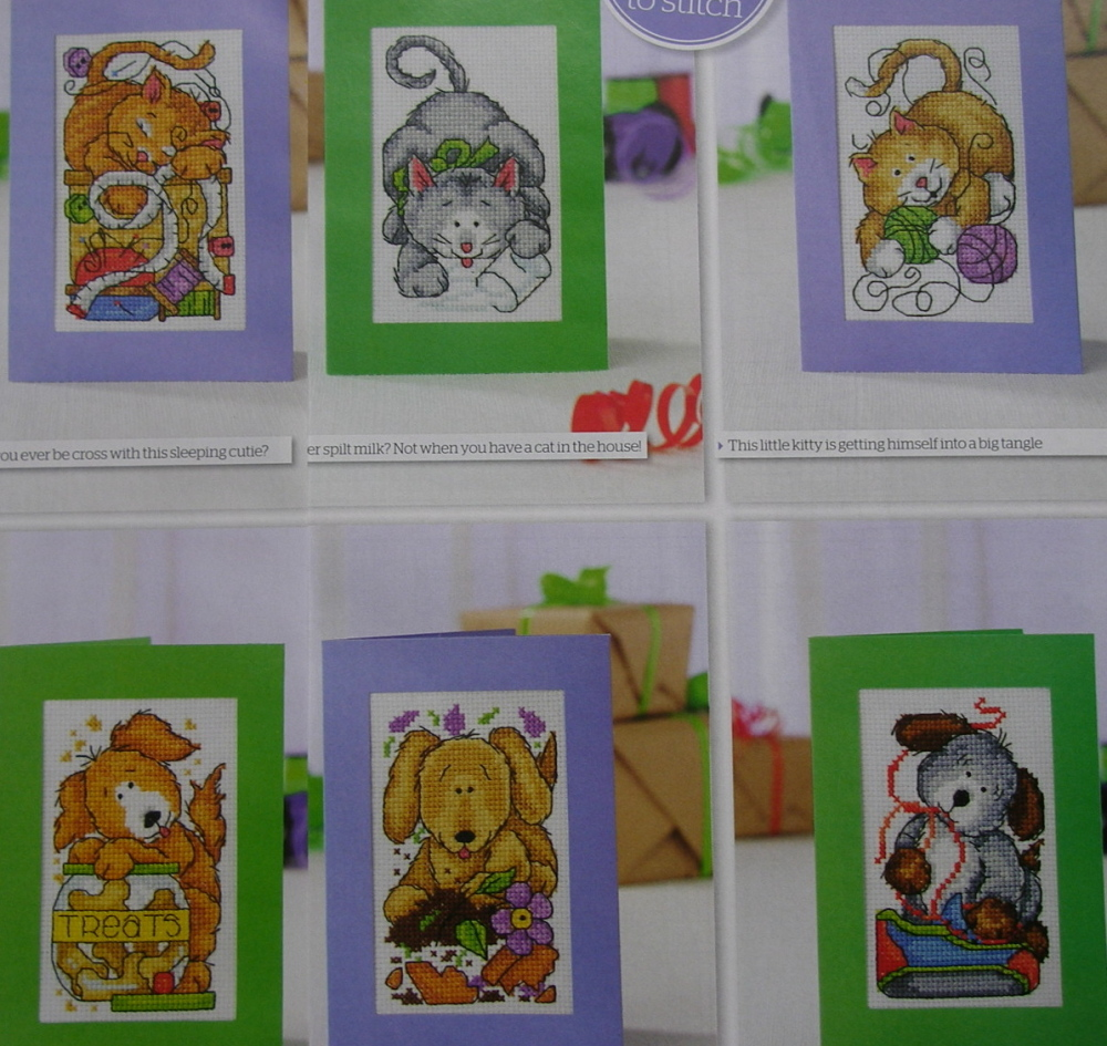 Cats and Dogs Cards ~ Six Cross Stitch Charts