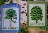 Scots Pine & Horse Chestnut Trees ~ Two Cross Stitch Charts