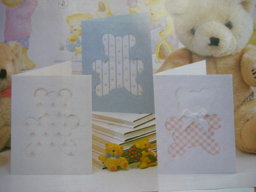 Three Teddy Bear Aperture Baby Cards ~ Cross Stitch Charts