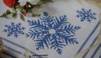 Zweigart Festive Snowflakes Table Linen ~ Cross Stitch Chart