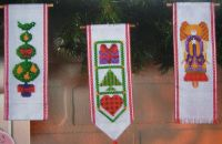 Six Christmas Bellpulls ~ Cross Stitch Charts