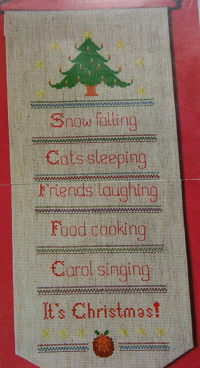 It's Christmas Bell Pull ~ Cross Stitch Chart