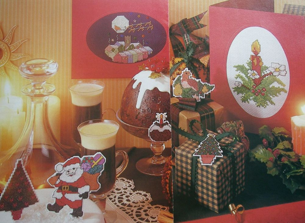 Christmas Cards/Decorations & Cake Band ~ Eight Cross Stitch Charts