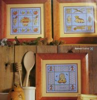 Milk, Honey, Wine & Wool Samplers ~ Four Cross Stitch Charts
