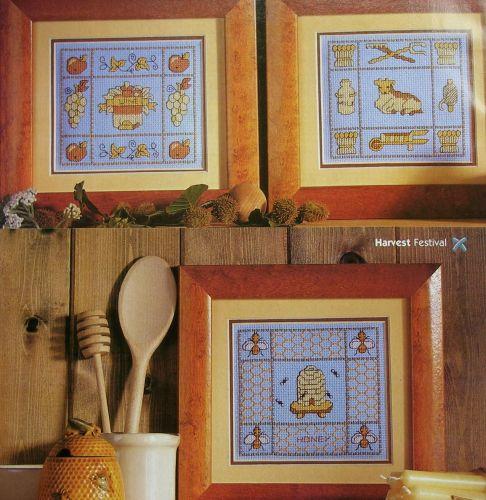 Milk, Honey, Wine & Wool Samplers ~ Four Cross Stitch Charts