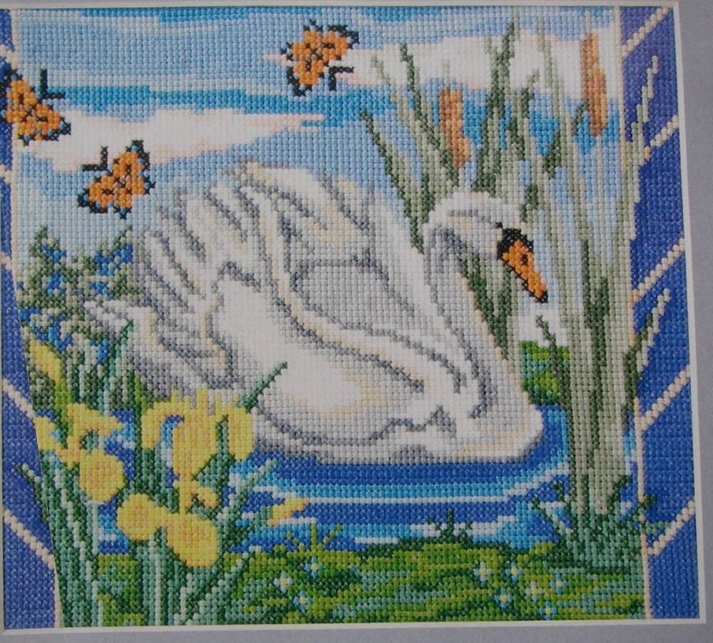 Swan On The River ~ Cross Stitch Chart