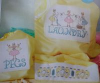 Laundry & Peg Bags & Towel Border ~ Three Cross Stitch Charts