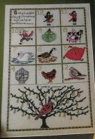 Twelve Days of Christmas Sampler ~ Cross Stitch Chart