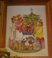 Family of Bears at Christmas ~ Cross Stitch Chart