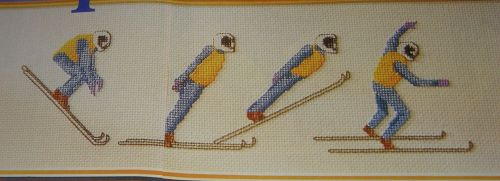 Ski-Jumping ~ Cross Stitch Chart