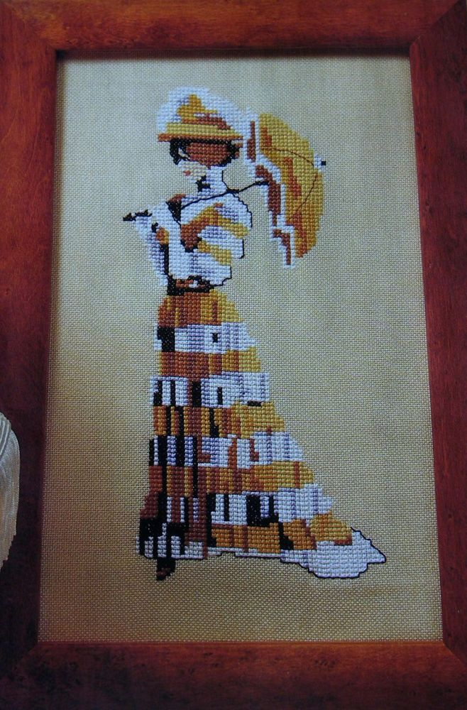 1900 Victorian Lady ~ Cross Stitch Chart