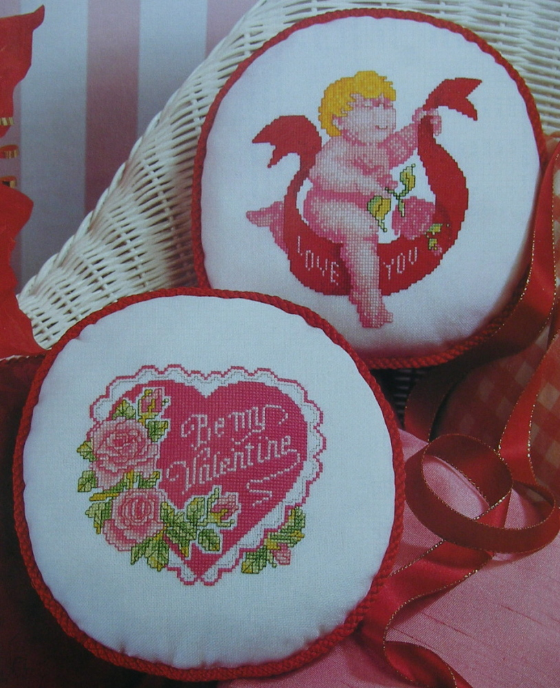 Valentine Cushions & Cards ~ Four Cross Stitch Charts