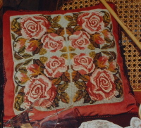 Floral Roses Cushion ~ Cross Stitch/Needlepoint Pattern