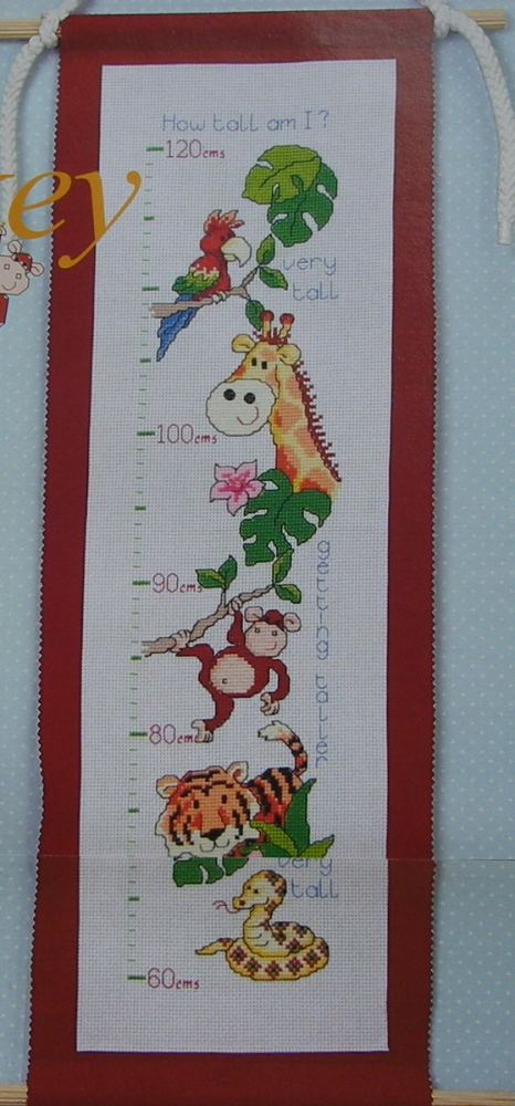 How Tall Am I? Height Chart ~ Cross Stitch Chart