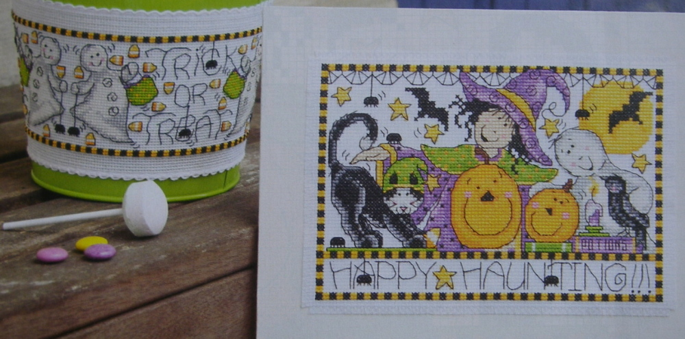 Witches, Ghosts & Spooky Cats ~ Two Cross Stitch Charts