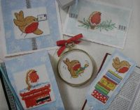 40 Robin Christmas Cards & Gifts ~ Cross Stitch Charts