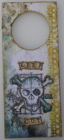 *keep out* OOAK Handmade Door Hanger / Wall Hanging