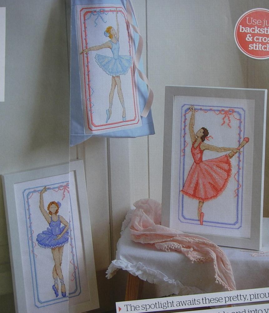 Three Pirouetting Ballerinas ~ Cross Stitch Charts
