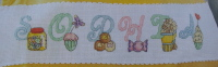 Sweet Treats ABC Alphabet ~ 26 Cross Stitch Charts
