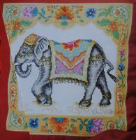 Exotic Asian Elephant ~ Cross Stitch Chart