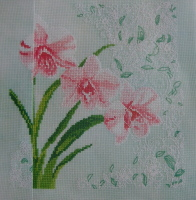 Elegant Orchids ~ Cross Stitch Chart