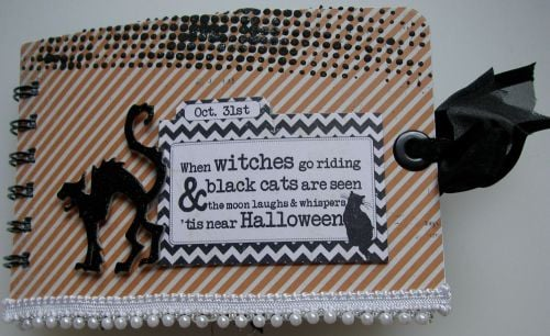 *when witches go riding* OOAK Handmade Halloween Envelope Scrapbook Album