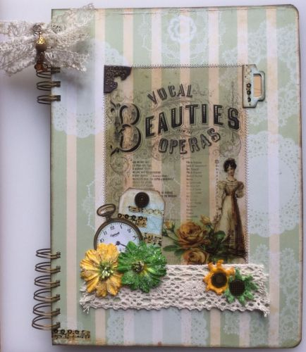 *vocal beauties from the operas* OOAK Handmade A4 Scrapbook Photo Memory Al