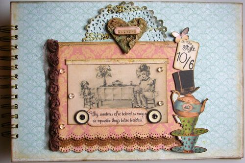 *six impossible things* OOAK Handmade Scrapbook Photo Memory Album