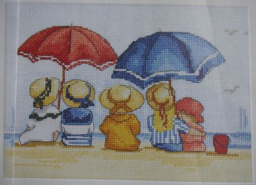 Edwardian Children Beach Scene ~ Cross Stitch Chart
