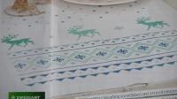 Zweigart Christmas Reindeer & Snowflakes Tablecloth/Runner ~ Cross Stitch Chart