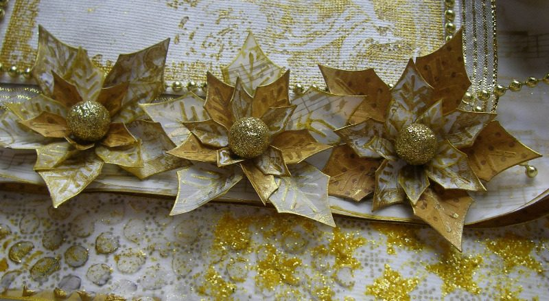 golden cherubs flowers